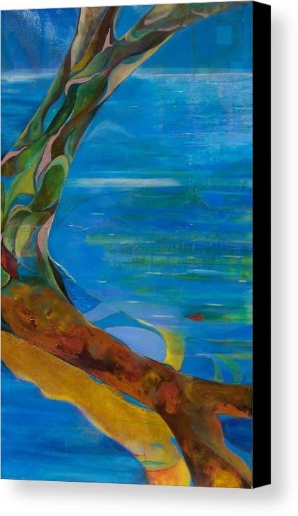 Landscape Canvas Print featuring the print Arbour Lights by Meltem Quinlan