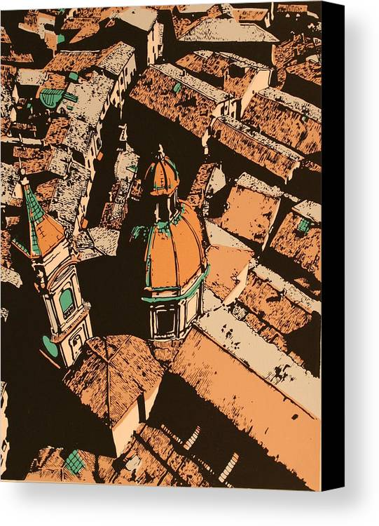 Canvas Print featuring the print Roofs Of Bologna by Biagio Civale