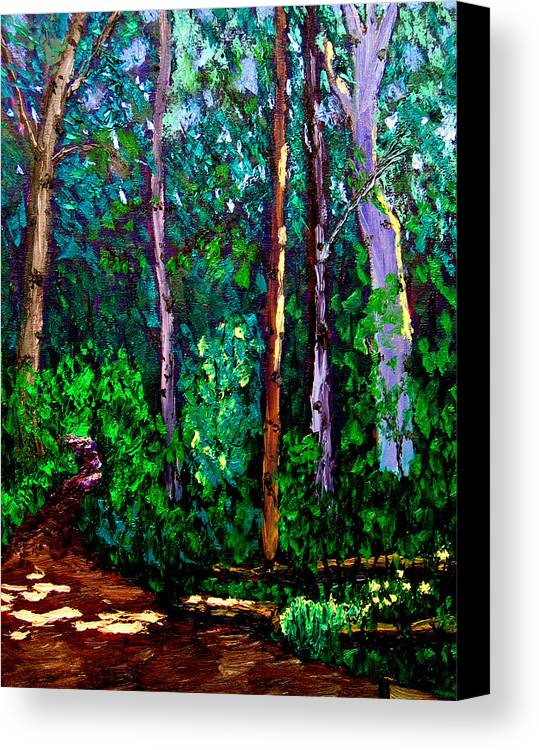 Woods Canvas Print featuring the painting Sewp 6 15 by Stan Hamilton
