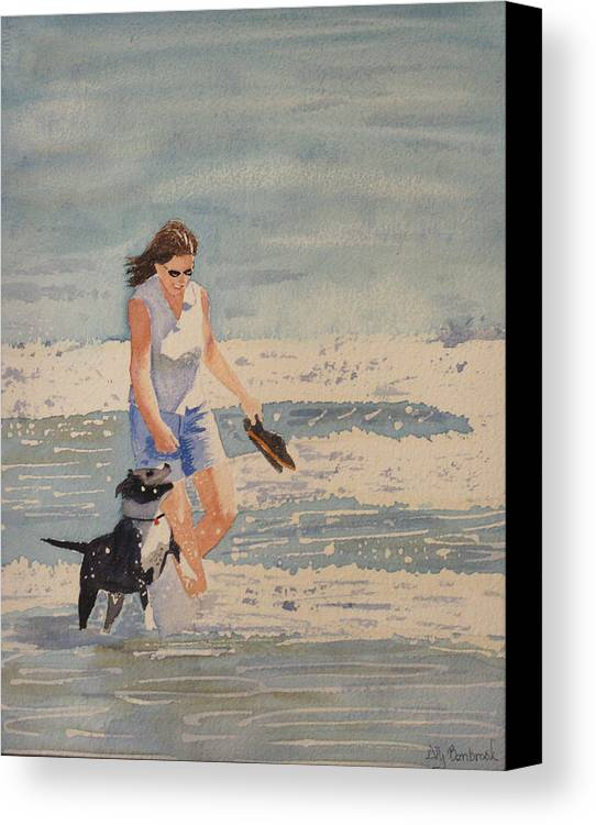Satffay Canvas Print featuring the painting Anabelly by Ally Benbrook