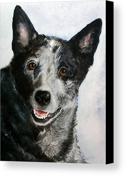 Canine Canvas Print featuring the painting Kellie by Gina Hall