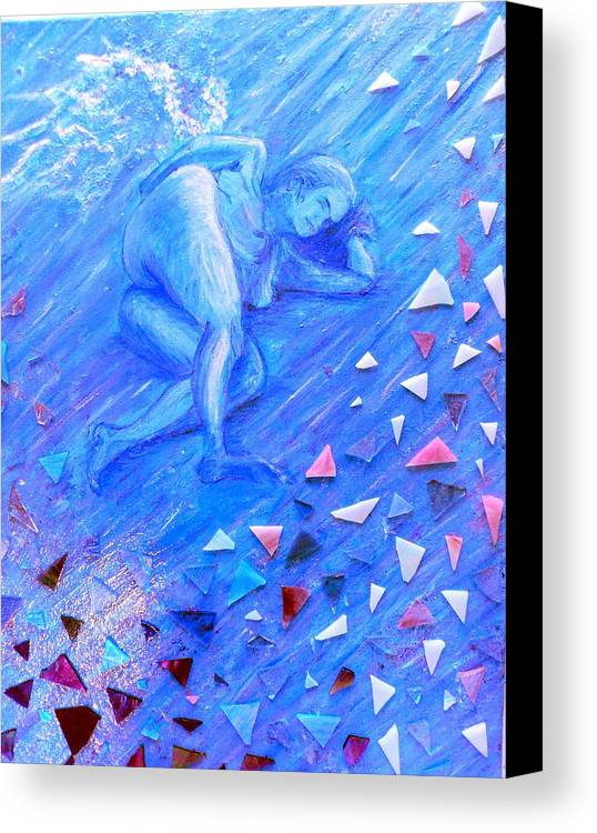 Acrylic Canvas Print featuring the painting Protection by Cynthia Ann Swan