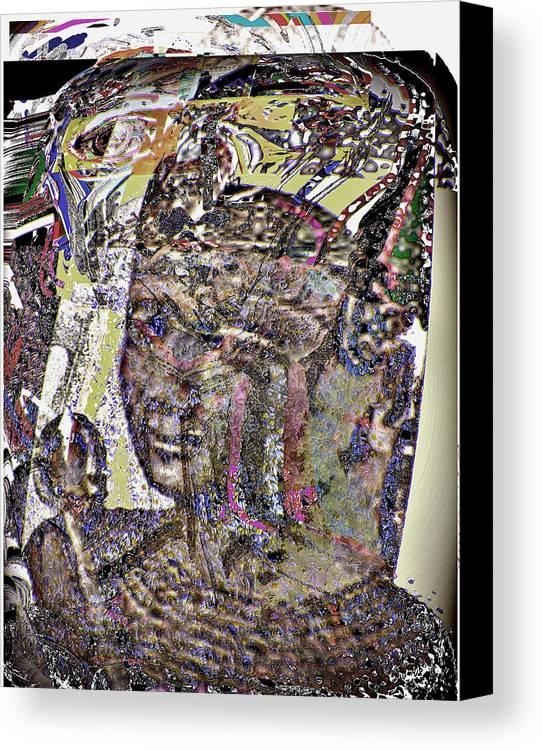 Portrait Canvas Print featuring the digital art Rameses II by Noredin Morgan