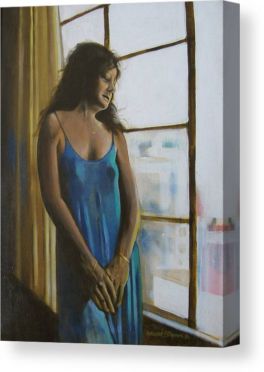 View From The 4th Floor Canvas Print featuring the painting Jeanette by Howard Stroman