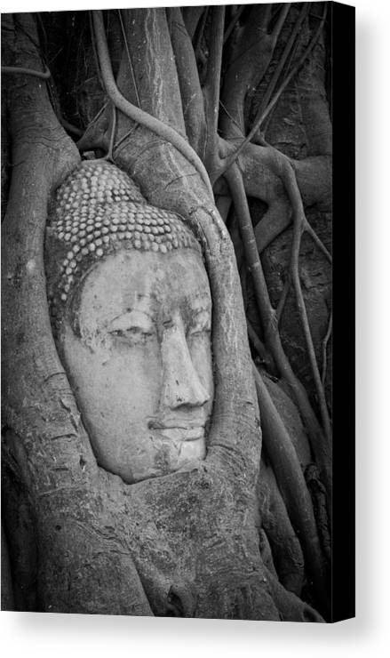 Ancient Canvas Print featuring the sculpture The Ancient City Of Ayutthaya by Thosaporn Wintachai
