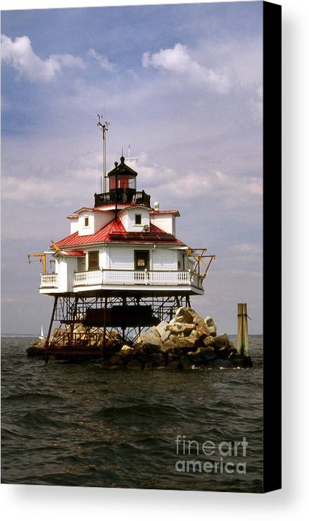 Lighthouses Canvas Print featuring the photograph Thomas Point Shoal Lighthouse by Skip Willits