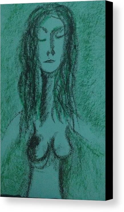 Woman Canvas Print featuring the photograph Art Therapy 147 by Michele Monk