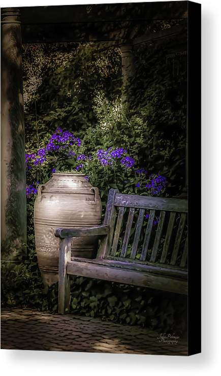 Garden Canvas Print featuring the photograph As Evening Falls by Julie Palencia