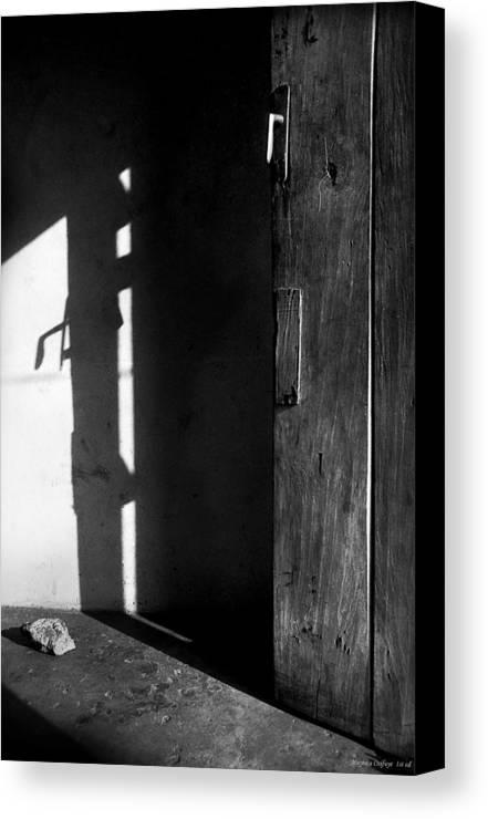 Door Canvas Print featuring the photograph Door In Silhouette by Muyiwa OSIFUYE