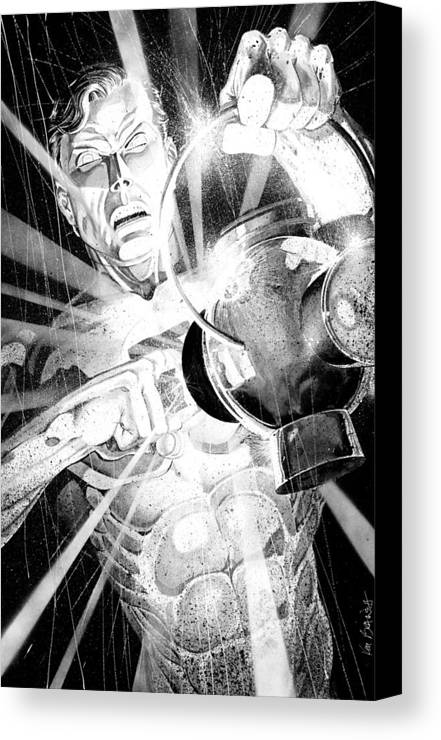 Green Lantern Canvas Print featuring the painting Green Lantern by Ken Branch