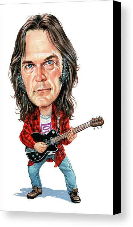 Neil Young Canvas Print featuring the painting Neil Young by Art