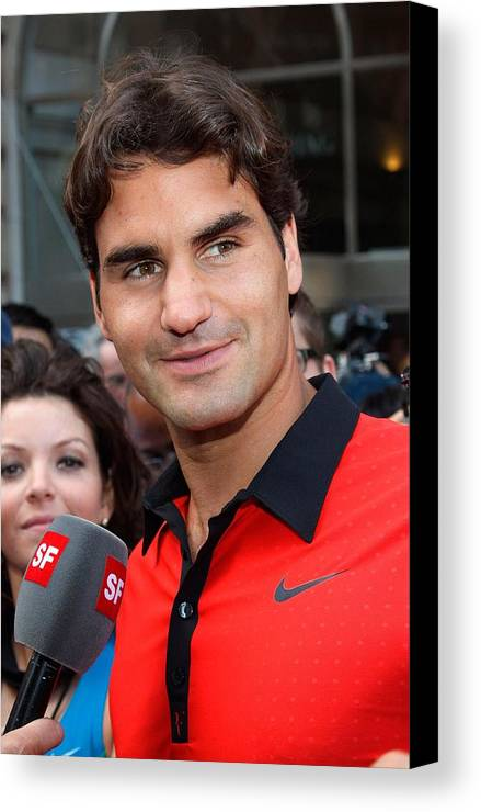 Roger Federer Canvas Print featuring the photograph Roger Federer At A Public Appearance by Everett
