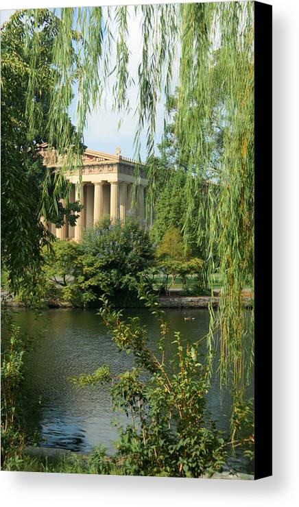 Parthenon Canvas Print featuring the photograph A View Of The Parthenon 1 by Douglas Barnett