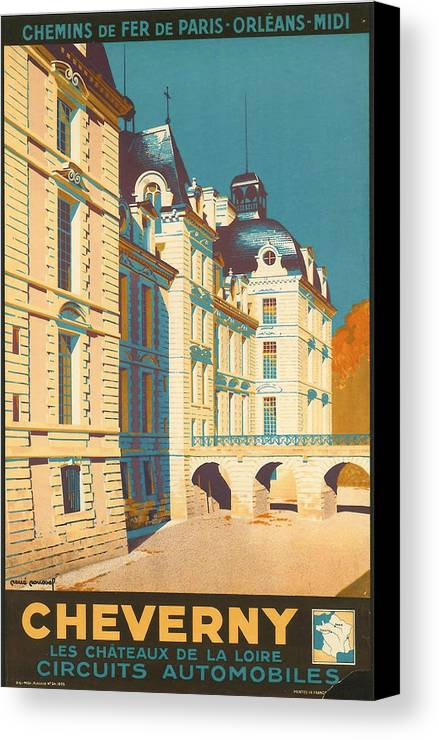 Ancient Canvas Print featuring the digital art Chateau De Cheverny by Georgia Fowler
