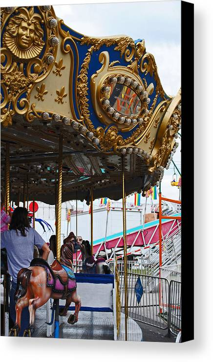 Fair Canvas Print featuring the photograph Happy Ponies by Skip Willits