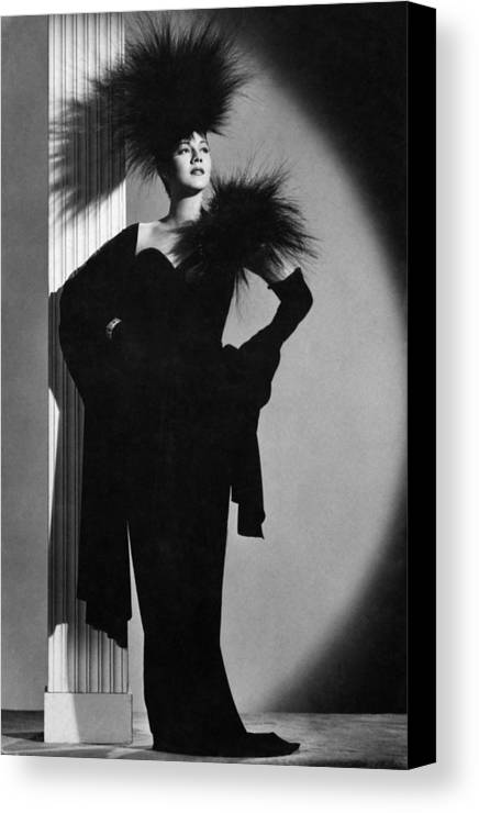 1940s Portraits Canvas Print featuring the photograph Maria Montez, Ca. Mid-1940s by Everett
