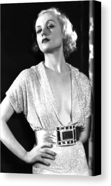 1930s Portraits Canvas Print featuring the photograph No Man Of Her Own, Carole Lombard, 1932 by Everett