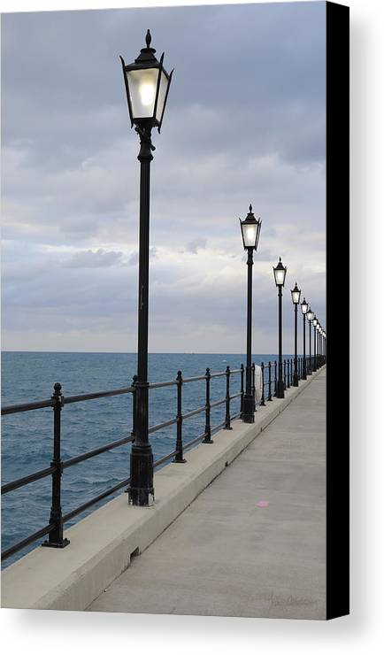 Lamp Post Canvas Print featuring the photograph Take A Stroll With Me by Luke Moore