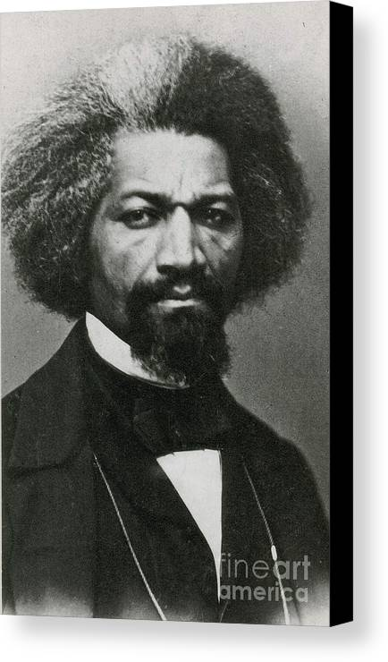 History Canvas Print featuring the photograph Frederick Douglass, African-american by Photo Researchers