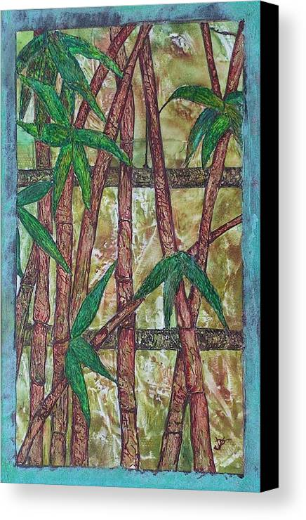Bamboo Canvas Print featuring the painting Bamboo by John Vandebrooke