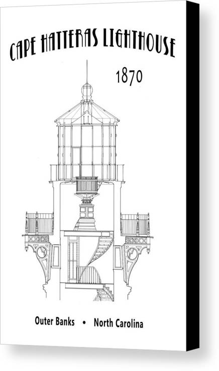 cape hatteras lighthouse minimal canvas print canvas art by daniel schematic circuit diagram lighthouses canvas print featuring the digital art cape hatteras lighthouse minimal by daniel hagerman