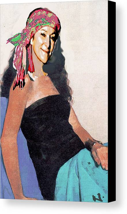 Portrait Canvas Print featuring the painting Charm by Noredin Morgan