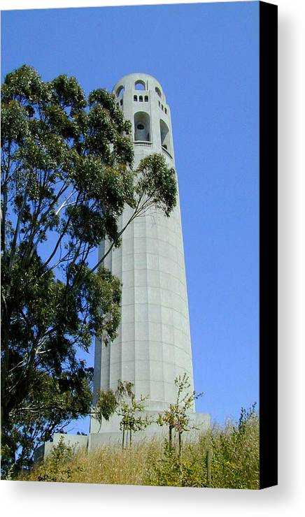 Coit Canvas Print featuring the photograph Coit Tower by Douglas Barnett