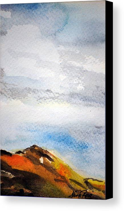 Landscapes Canvas Print featuring the painting Davis Mountains by Neva Rossi