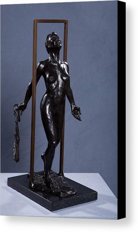 Female Canvas Print featuring the sculpture Epiphany by Dan Earle
