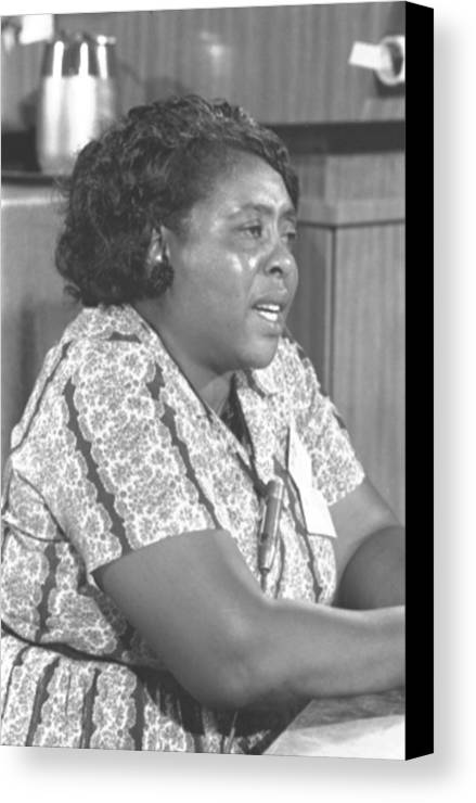 History Canvas Print featuring the photograph Fannie Lou Hamer 1917-1977 by Everett