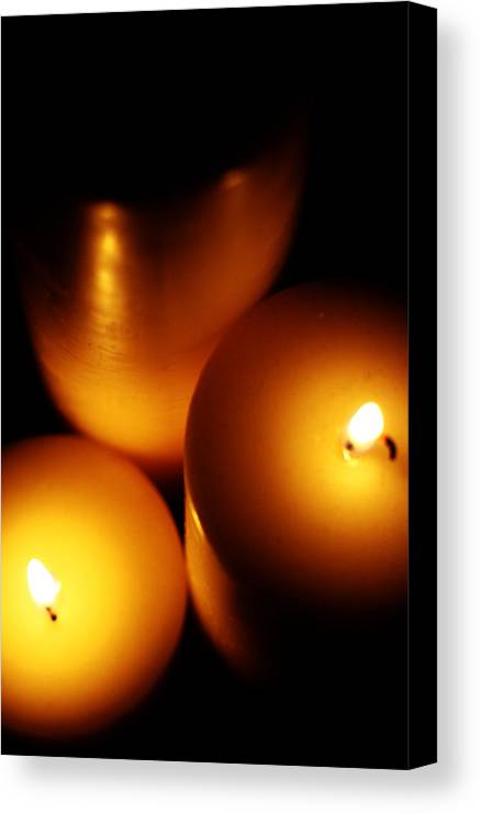 Candles Canvas Print featuring the digital art Flames by Lounge Mode Productions Art