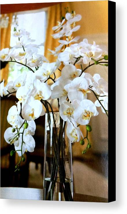 Flowers Canvas Print featuring the photograph Flowers 3 by Lord Frederick Lyle Morris