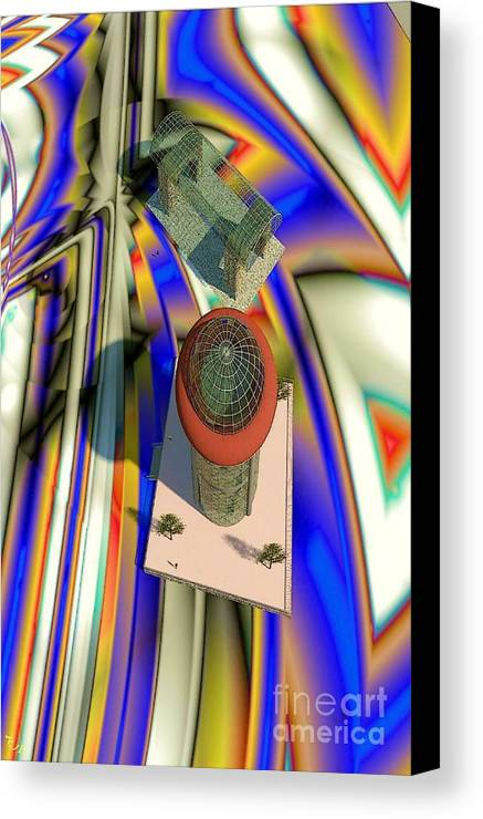 3d Modeling Canvas Print featuring the digital art Frame Of Reference by Ron Bissett