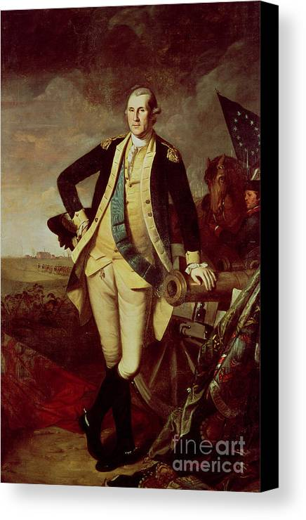 Bal28610 Canvas Print featuring the painting George Washington At Princeton by Charles Willson Peale