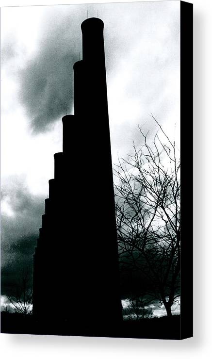 Smoke Stacks Canvas Print featuring the photograph Ghost Stacks by Chaz McDowell