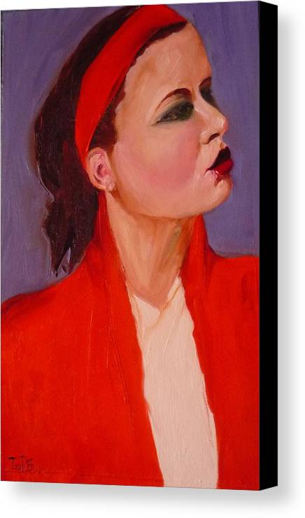 Figurative Canvas Print featuring the painting Head Band No 1 by Irit Bourla