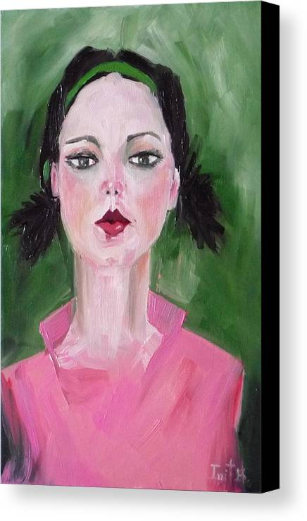Figurative Canvas Print featuring the painting Head Band No 3 by Irit Bourla