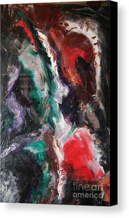 Abstract Canvas Print featuring the painting Minds Design by Toni Daniel
