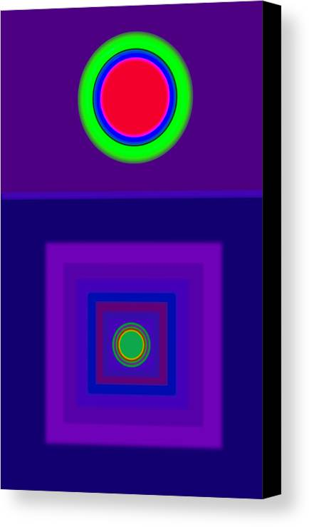 Classical Canvas Print featuring the digital art New Violet by Charles Stuart