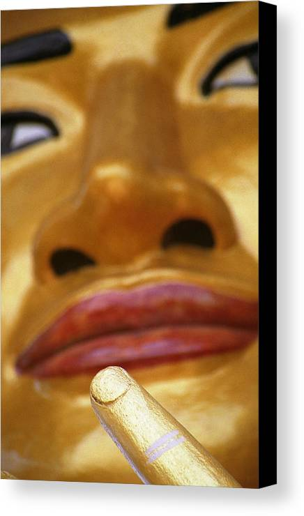 Buddha Canvas Print featuring the photograph Pointing Buddha by Patrick Klauss
