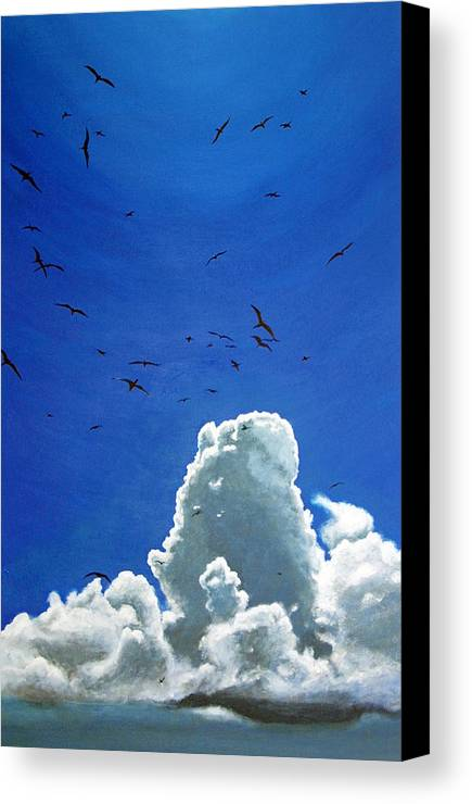 Birds Canvas Print featuring the painting Sanctuary by Fiona Jack
