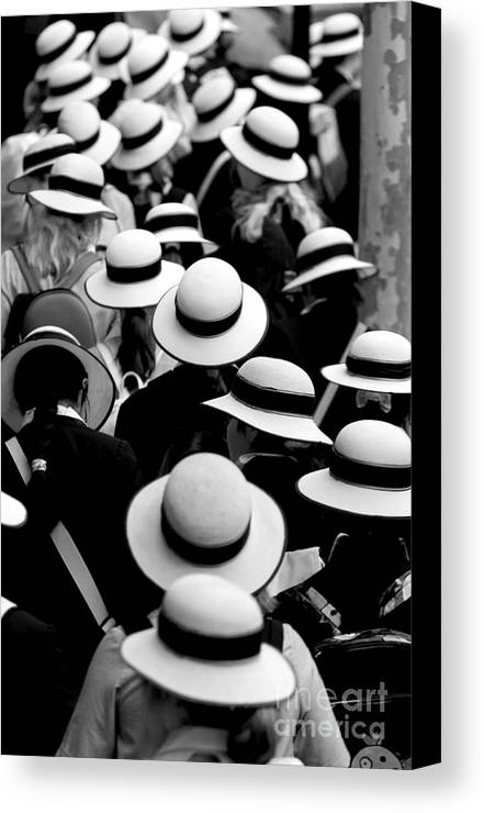 Hats Schoolgirls Canvas Print featuring the photograph Sea Of Hats by Sheila Smart Fine Art Photography