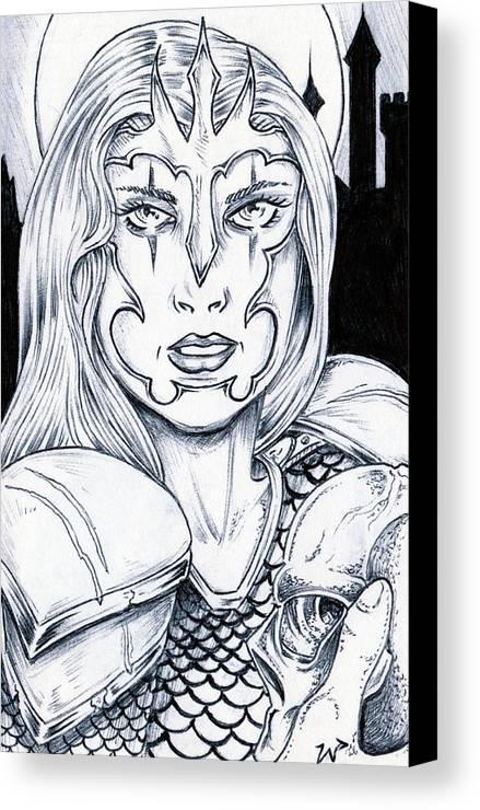 Selene Canvas Print featuring the drawing Selene by William P