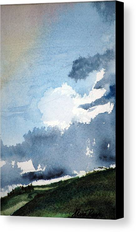 Landscape Canvas Print featuring the painting Storm Clouds by Neva Rossi