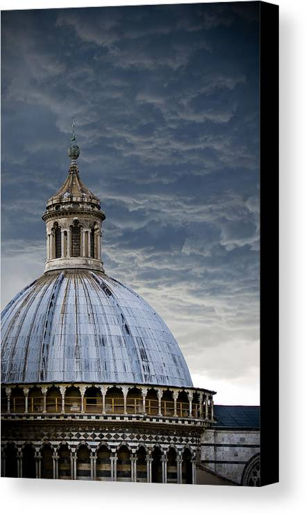 Siena Canvas Print featuring the photograph Storm Over Siena by Jim DeLillo