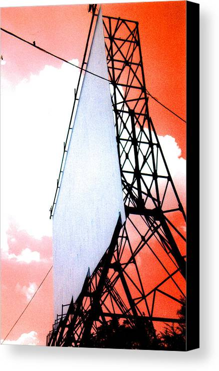 Last Canvas Print featuring the photograph The Last Drive-in by Darren Stein