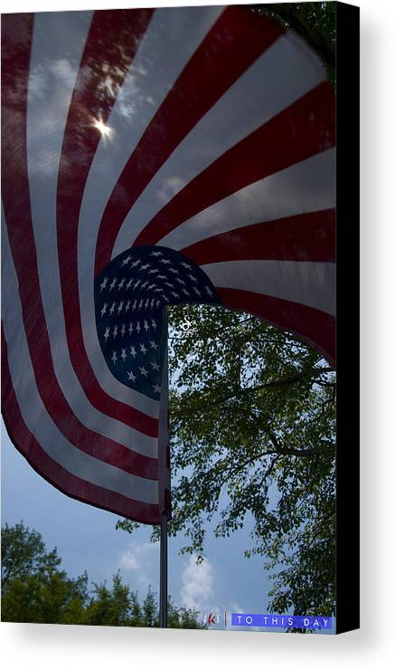 Flag Canvas Print featuring the photograph To This Day by Jonathan Ellis Keys
