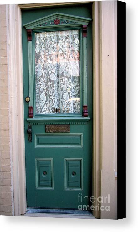 Door Canvas Print featuring the photograph Victorian Door by Barbara Oberholtzer