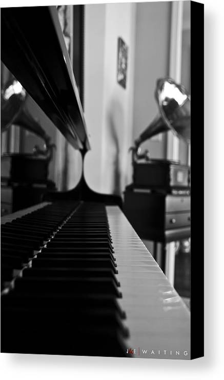 Piano Canvas Print featuring the photograph Waiting by Jonathan Ellis Keys
