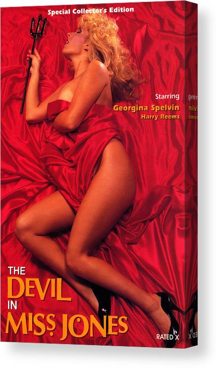 Erotic Canvas Print featuring the digital art Devil In Miss Jones by Arrow Productions